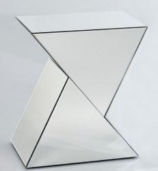 Casa Padrino Designer Spiegelglas Beistelltisch 52 x 38 x H. 60 cm - Luxus Wohnzimmermöbel
