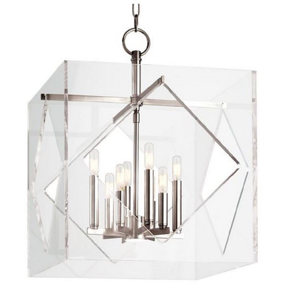 Casa Padrino Luxus Hängeleuchte Silber 50,8 x 50,8 x H. 67,3 cm - Pendelleuchte in Würfelform 1