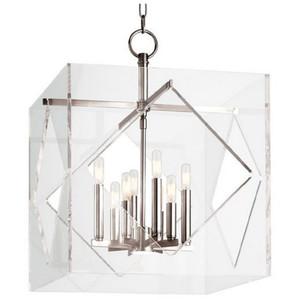 Casa Padrino Luxus Hängeleuchte Silber 50,8 x 50,8 x H. 67,3 cm - Pendelleuchte in Würfelform