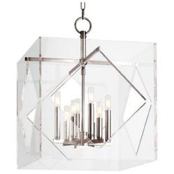 Casa Padrino Luxus Hängeleuchte Silber 50,8 x 50,8 x H. 67,3 cm - Pendelleuchte in Würfelform 001
