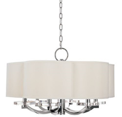 Casa Padrino luxury chandelier in shamrock shape silver / cream Ø 66 x H. 39.4 cm - Luxury Quality