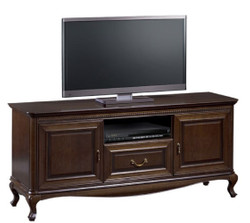 Casa Padrino luxury art nouveau sideboard dark brown 152 x 45.6 x H. 68.2 cm - TV Cabinet with 2 Doors and Drawer - Living Room Furniture