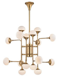 Casa Padrino Luxury LED Chandelier Antique Brass / White Ø 92.7 x H. 83.8 cm - Chandelier with Spherical Glass Lampshades - Luxury Quality
