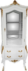 Casa Padrino Baroque display case white / gold with mirror glass - display cabinet - living room cabinet glass cabinet