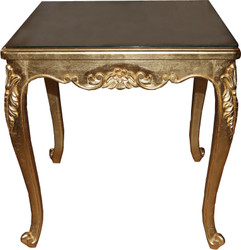 Casa Padrino Baroque Luxury Dining Table Gold 80 cm x 80 cm Dining Table - Made in Italy