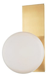 Casa Padrino Luxury LED Wall Light Antique Brass / White 19.1 x 16.5 x H. 32.4 cm - Hotel & Restaurant Lamp