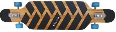 Koston Longboard Drop Through Komplettboard Cruiser Tian Jun 40.0 x 10.0 inch Blue Wheels - Profi Dropthrough Longboard Drop Thru Carver – Bild 2