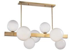 Casa Padrino Luxury LED Hanging Lamp Antique Brass / White 110.5 x 54 x H. 47 cm - Luxury Collection