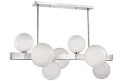 Casa Padrino Luxury LED Hanging Lamp Silver / White 110.5 x 54 x H. 47 cm - Luxury Collection