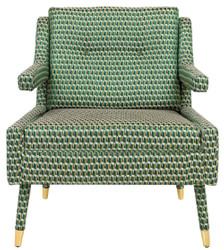 Casa Padrino Luxus Sessel Grün / Gold 76 x 88 x H. 89 cm - Wohnzimmer Sessel im Neoklassichen Stil - Designer Wohnzimmermöbel