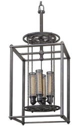 Casa Padrino luxury pendant light / industrial light antique pewter 41.9 x 41.9 x H. 97.2 cm - Luxury Collection