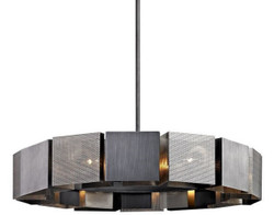 Casa Padrino Luxury Chandelier Graphite / Silver Ø 92.1 x H. 18.4 cm - Luxury Collection