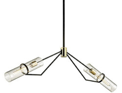 Casa Padrino luxury chandelier bronze / brass 127 x 10.2 x H. 37.5 cm - Designer Living Room Chandelier