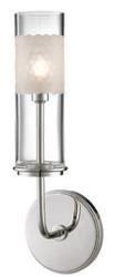 Casa Padrino Luxus LED Wandleuchte Silber / Weiß 12,7 x 9,5 x H. 36,2 cm - Luxus Qualität