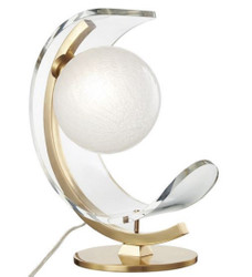 Casa Padrino Designer LED Tischleuchte Antik Messingfarben / Weiß 33 x 19,1 x H. 38,1 cm - Luxus Kollektion