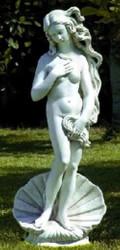 Casa Padrino Art Nouveau Garden Deco Sculpture Venus with Shell Ø 32 x H. 85 cm - Garden Sculpture - Special!
