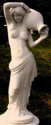 Casa Padrino Art Nouveau Gargoyle Sculpture Woman with Jug 44 x 33 x H. 120 cm - Garden Deco Figurine - Special!