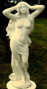 Casa Padrino Jugendstil Skulptur Jungfrau 53 x 31 x H. 120 cm - Prunkvolle Gartendeko - Special!