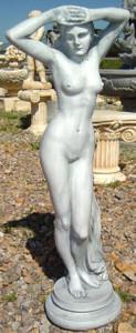 Casa Padrino Jugendstil Skulptur Venus 30 x 22 x H. 79 cm - Prunkvolle Gartendeko - Special!