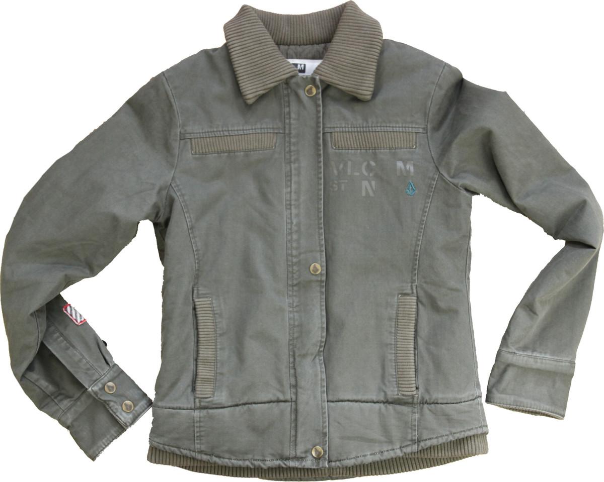 f718f768e7998f Volcom Military Jacket Olive Vintage Style Blouson Army Skateboard Styler  Jacket 001