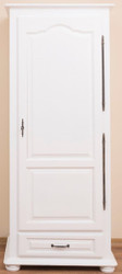 Casa Padrino country style bedroom cabinet / wardrobe with door and drawer white 79.5 x 54 x H. 186 cm - Bedroom Furniture