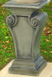 Casa Padrino Baroque Garden Decoration Column 42 x 42 x H. 80 cm - Magnificent Garden Column in Baroque Style - Special!