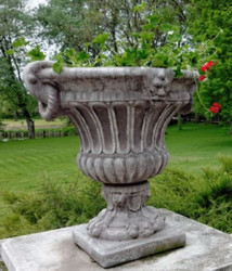 Casa Padrino Baroque Flowerpot Ø 73 x H. 70 cm - Round Magnificent Plant Pot in Baroque Style - Flower Tub - Planter - Special!