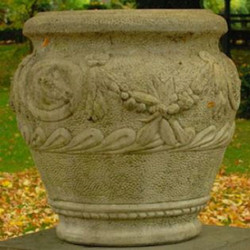 Casa Padrino Baroque Flower Pot Ø 59 x H. 66 cm - Round Magnificent Plant Pot in Baroque Style - Special!