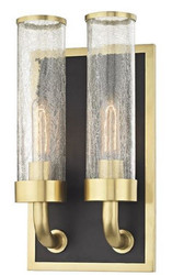 Casa Padrino Luxury Double Wall Lamp Antique Brass / Black 22.9 x 12.7 x H. 42.6 cm - Luxury Quality
