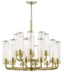 Casa Padrino Luxury Chandelier Antique Brass Ø 82.6 x H. 73.7 cm - Hotel & Restaurant Chandelier - Luxury Collection