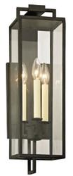 Casa Padrino Luxus Wandleuchte Schwarz 15,2 x 18,4 x H. 54,6 cm - Innen / Außen Wandlampe