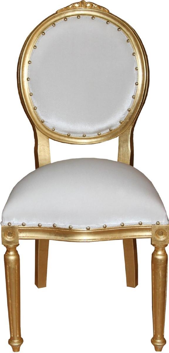 Casa Padrino Set Di Sala Da Pranzo Barocco Di Lusso Medaglione Bianco Oro 50 X 52 X H 99 Cm 6 Sedie Da Pranzo Fatte A Mano Arredamento Barocco Sala Da Pranzo Casa Padrino De