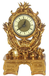 Casa Padrino Baroque Table Clock Gold 16 x 5 x H. 26 cm - Baroque Decoration Accessories