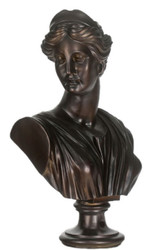 Casa Padrino Baroque Ladies Bust Black 35 x 20 x H. 50 cm - Deco Figure in Baroque Style
