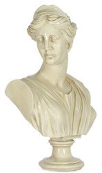 Casa Padrino Baroque Ladies Bust Cream 35 x 20 x H. 50 cm - Deco Figure in Baroque Style