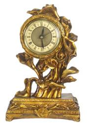 Casa Padrino Barock Tischuhr Antik Gold 16 x 8 x H. 25 cm - Barock Deko Accessoires