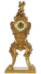 Casa Padrino baroque grandfather clock gold 21 x 13 x H. 50 cm - Small Magnificent Solid Wood Grandfather Clock with Angel