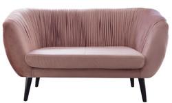 Casa Padrino Luxus Sofa mit dekorativen Falten 144 x 79 x H. 81 cm - Verschiedene Farben - Hotel Möbel