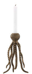 Casa Padrino Luxury Candlestick Octopus Vintage Brass 15.5 x 14 x H. 24.5 cm - Brass Candle Holder