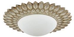 Casa Padrino designer ceiling lamp cream gold / white Ø 36.2 x H. 8.2 cm - Modern Ceiling Light