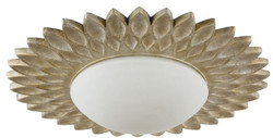 Casa Padrino designer ceiling lamp cream gold / white Ø 56 x H. 10.3 cm - Modern Ceiling Light