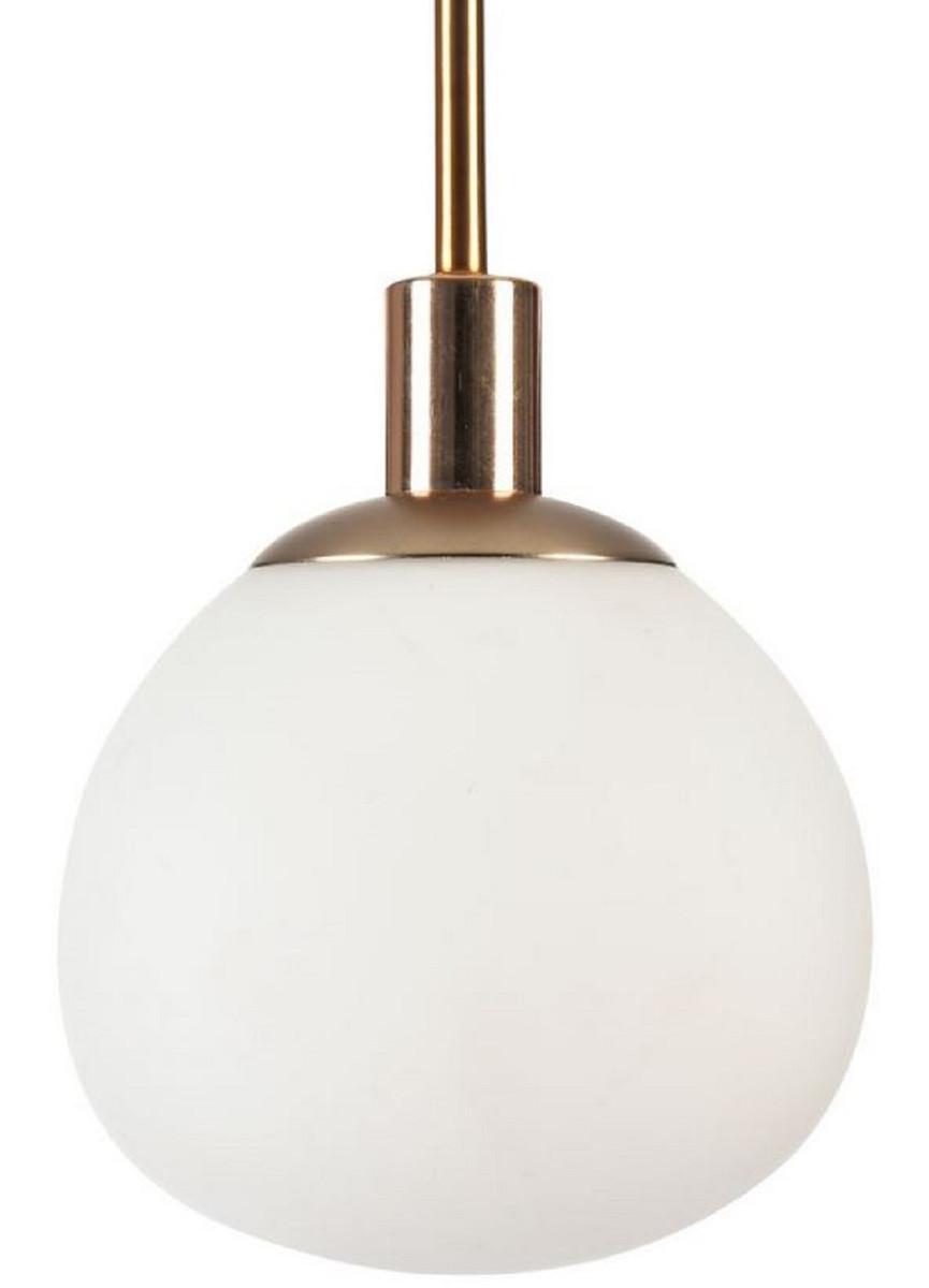 Casa Padrino Hängeleuchte Gold / Weiß Ø 15 x H. 30,5 cm - Moderne Pendelleuchte 3