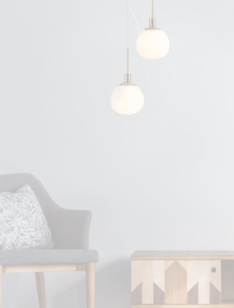 Casa Padrino Hängeleuchte Gold / Weiß Ø 15 x H. 30,5 cm - Moderne Pendelleuchte 4