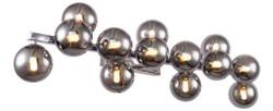Casa Padrino Designer Wandleuchte Silber / Grau 95 x 23 x H. 24 cm - Moderne Wandlampe mit kugelförmigen Lampenschirmen