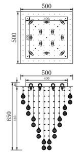Casa Padrino Designer Deckenleuchte Silber 50 x 50 x H. 65 cm - Moderne chrombeschichtete Deckenlampe mit Kristall Ketten – Bild 4