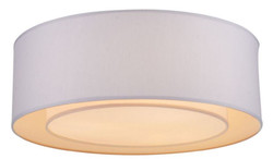 Casa Padrino ceiling lamp white / gray Ø 52 x H. 17.5 cm - Modern Stylish Lamp with Metal Frame and Fabric Cover