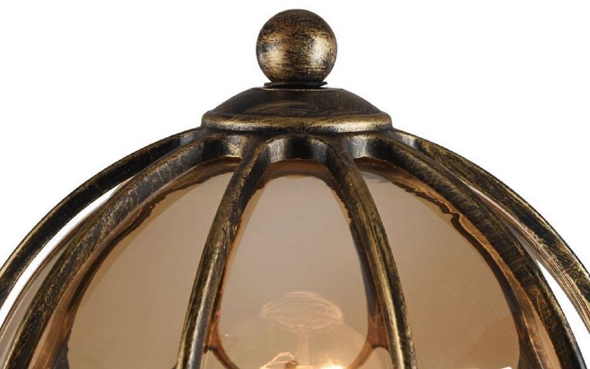 Casa Padrino Lanterna Da Giardino Art Nouveau Bronzo Antico Ambra ø 21 5 X H 42 3 Cm Luce Da Esterno Terrazze Giardino Resistente Agli Agenti