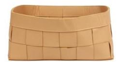 Casa Padrino luxury leather basket natural 25 x 15 x H. 11 cm - Deco Accessories
