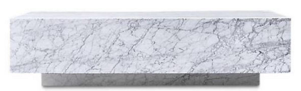 Casa Padrino Table Basse De Luxe Blanc 100 X 100 X H 35 Cm