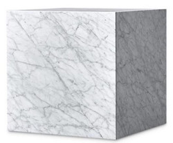 Casa Padrino Luxury Side Table White 48 x 48 x H. 55 cm - Square Carrara Marble Living Room Table - Marble Table - Luxury Quality